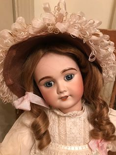 Beautiful Cherie by  Limoge Haunted Dolls, Half Dolls, Antique Dolls, Vintage Dolls, Bisque Doll, American Girls, Play Houses, Embroidery Applique, Beautiful Dolls