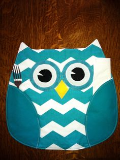 Owl placemat.