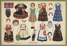 77.4202: Norske Bunader (Norwegian National Costumes) | paper doll | Paper Dolls | Dolls | National Museum of Play Online Collections | The Strong