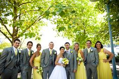 Yellow and Grey...great wedding colour combo