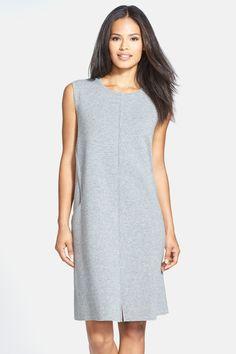 Sleeveless Wool Flannel Shift Dress by Lafayette 148 New York