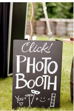 photo booth sign for a wedding photo booth