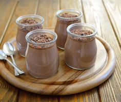 Chocolate chia seed mousse