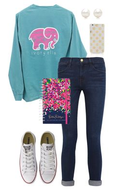"""Thanks to @emmig02 for clipping Ivory Ella!"" by sc-prep-girl ❤ liked on Polyvore featuring Frame Denim, Converse, Tiffany & Co., Lilly Pulitzer and Kate Spade"