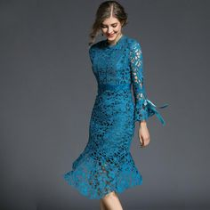 Trumpet Mermaid Lace Dress #dress #chick #fashion