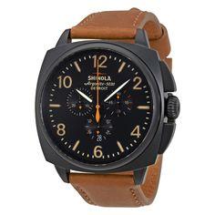 Shinola The Brakeman Chronoraph Black Dial Tan Leather Men's Watch S0100123 - Shinola - Watches - Jomashop