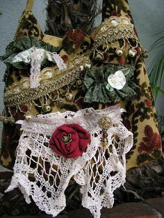 Handmade Bohemian Carpet Bag thick velvet chenille by GrandmaDede