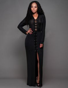 Sexy Long Sleeve Black Prom Dresses on Sale