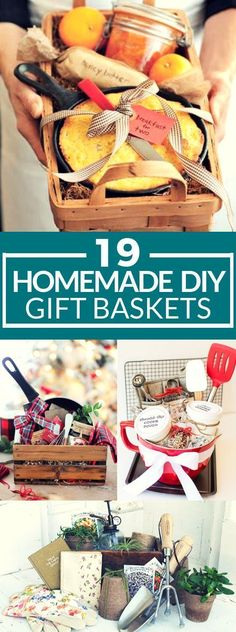 These 19 DIY gift baskets are so heartfelt and sure to leave an impression on your loved ones! I love that homemade feel and think this is the way to go for Christmas presents! #gift #gifts #diy #diychristmas #christmas #holidays