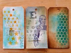 Canadian Nickel Scrap'n: Creative Chemistry 102- DAY TWO Sketching, Stamping through Stencils and Embossing through Stencils
