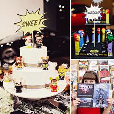 Geeky coolness.. A comic book inspired wedding