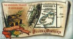 2011 Topps Allen & Ginter - Mini Fortunes for the Taking #5 The Devonshire Treasure of Cocos Island Front