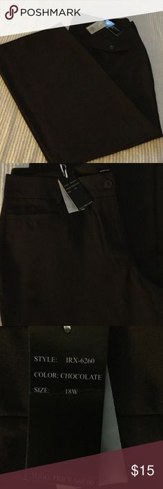 Isabella Rodriguez Pants, Size 18W Isabella Rodriguez Brown Dress Pant, Size 18W, two small pockets in front, never worn Pants Trousers