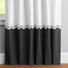 "The Emily & Meritt Sweet Scallop Drape, 108"", Cloud"