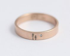 Pine and Moon Wedding Band | Flickr - Photo Sharing!
