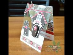 This card has a clear front that exposes background paper that is on the inside of the card. I used Stampin' Up!'s Home Sweet Home bundle and Cookie Cutter C...