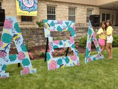Alpha Xi Delta bid day letters @Sorority Please