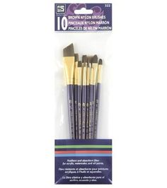 Resilient and absorbent fiber for acrylic, watercolor and oil paints. Online Craft Store, Craft Stores, Nylons, Weaving Tools, Brush Sets, Fibre, Order Up, Joann Fabrics, Wooden Handles