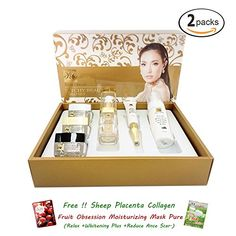 2 x PITCHY BEAUTY UP REAL CREAM GOLD SET WITH 6 PIECES Free Facial Hair Epicare Spring A1Remover ** Continue to the product at the affiliate link Amazon.com.