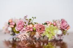 Spring Flower Crown Flower Halo by LittleLadyAccessory on Etsy