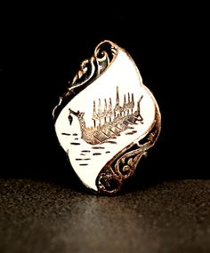 Siam Sterling Jewelry | Thai Jewelry | Royal Dragon Boat | Silver Enamel | Brooch Pin by ClassicEndearments on Etsy