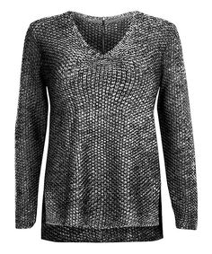 Black Zip V-Neck Sweater - Looks very Slithern-like