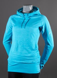 Nike Wmns Dri-Fit Wool Hoodie - Womens Running Clothing - Gamma Blue