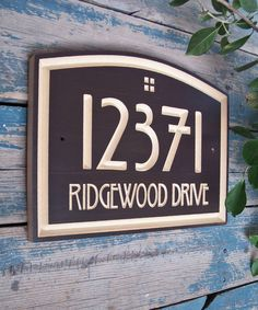 Arts & Crafts Home Address Engraved Plaque by WoodDesigners on Etsy https://www.etsy.com/listing/189278752/arts-crafts-home-address-engraved-plaque