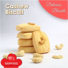 Crispy and crunchy cookies prepared with cashew are liked by kids a lot.  #KRBakes #KRBakesSince1969 #BakedWithLove #Cashew