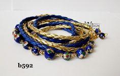 flov design: gold + navy blue