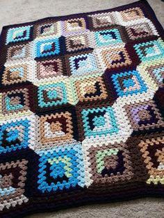 Ganchillo Lap manta manta del tiro Granny Square por ByDDHines, $60,00