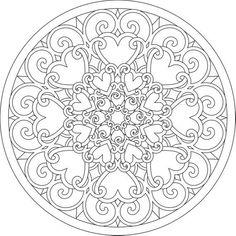 Abstract Coloring Pages, Heart Coloring Pages, Mandala Coloring Pages, Printable Coloring Pages, Coloring Sheets, Coloring Pages For Kids, Coloring Books, Pattern Coloring Pages, Mandalas Drawing