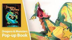 Encyclopedia Mythologica Dragons & Monsters Pop-Up Book. Livro com dobraduras incríveis.