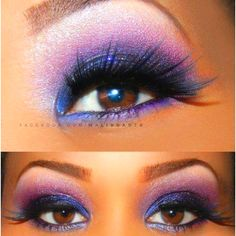 Brown eyes <3 & pretty make up! I highly suggest purple for those with brown eyes like myself :)