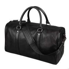 Men Travel Bag Genuine Leather Luggage Waterproof Weekend Duffle Bag