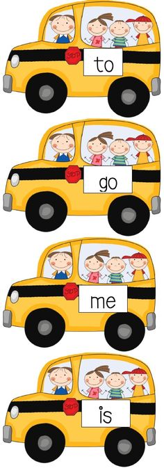 Sight Word Bus FREEBIES