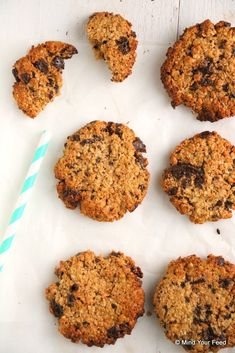 Havermout koekjes met pindakaas en chocola - Mind Your Feed