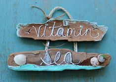 Vitamin Sea Hand Painted Driftwood