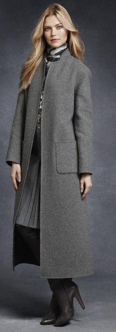 Deep Grey to Greystone Reversible Coat