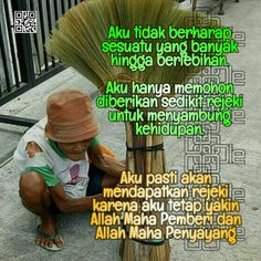 Rejeki Sudah Dijamin Doa, Islamic Quotes, Allah, Life, God, Allah Islam