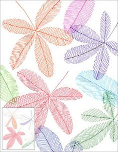 Art Projects for Kids: Marker Line Leaves  (DONE - very good)