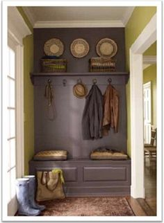 Paint A Bench And Shelf The Same Color As The Wall To Give The Appearance  Of A Built In. Using This Idea For A Small Space Iu0027m Converting To ...