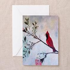 Sweet Red Cardinal Greeting Cards (Pk of 10) > ROKIN ART Gifts and Home Decor