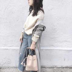from drier times | @isabelmarant sweater, @zara jeans, @ayr robe, @hielevencom bag from @tictail ☁️☁️☁️