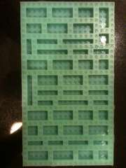 DIY mold for making lego shaped candies, gummies, crayons, made with food-safe silicone