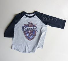 Ravenclaw kids raglan shirt Harry Potter toddlers by TuesdayTee