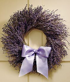 Lavender wreath-church door possibility?