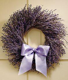 Lavender wreath-church door possibility?