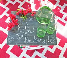 I'm obsessed with these chalkboard trays (but hey - they're reversible - the other side is painted)! They are great entertainment trays but also have so many other functions!   www.rappsodyinrooms.com