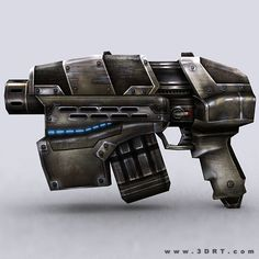 scifi sci fi guns weapons hands animated 3d lowpoly gameready